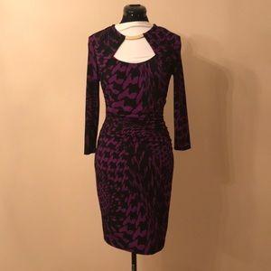 Violet Animal Print dress